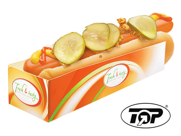 "Hot Dog Tray ""Fresh&Tasty"" 500 Stück"